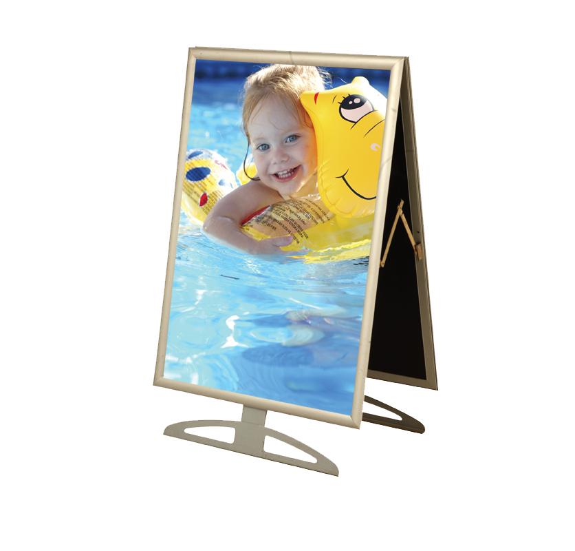 A Frame A1 d/sided clip frame short